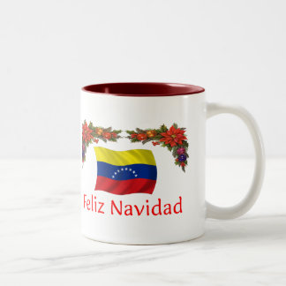 Venezuela Christmas Two-Tone Coffee Mug