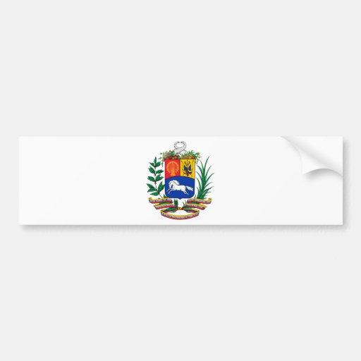 Venezuela Coat of Arms Bumper Stickers