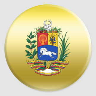 Venezuela Coat of Arms Classic Round Sticker