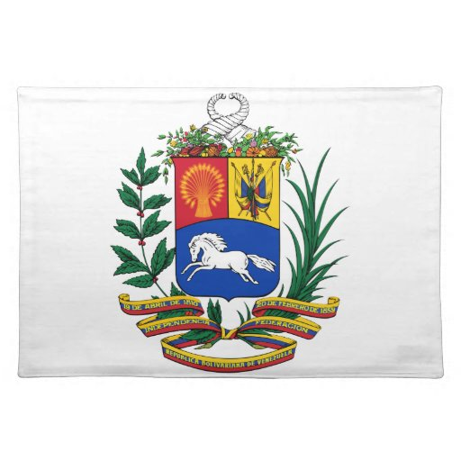Venezuela Coat Of Arms Cloth Placemat