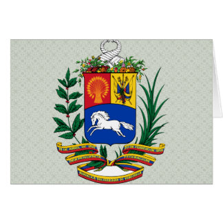 Venezuela Coat of Arms detail Greeting Card