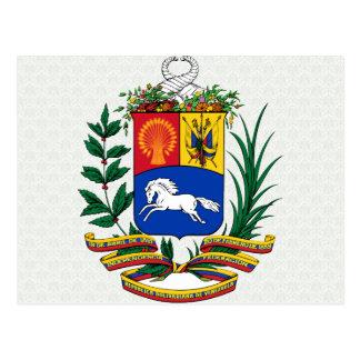 Venezuela Coat of Arms detail Postcard