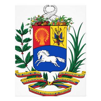 Venezuela coat of arms flyer