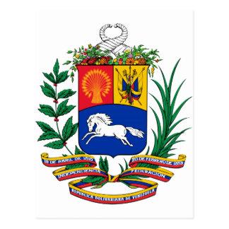 Venezuela Coat of Arms Post Card