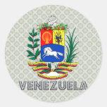 Venezuela Coat of Arms Round Sticker