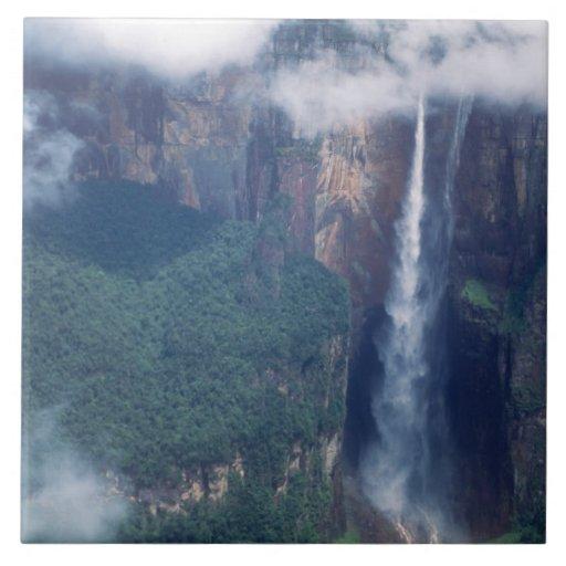 Venezuela, el Salto Ángel, parque nacional de Cana Azulejo Ceramica