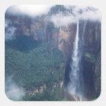 Venezuela, el Salto Ángel, parque nacional de Calcomanía Cuadradas Personalizada