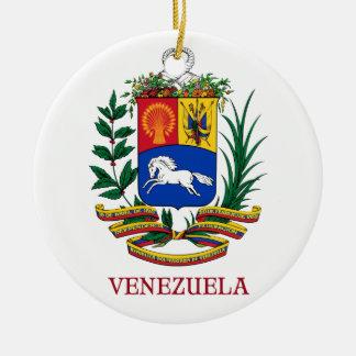 VENEZUELA - emblem/coat of arms/flag/symbol Double-Sided Ceramic Round Christmas Ornament