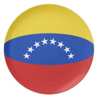Venezuela Fisheye Flag Plate