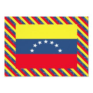 Venezuela Flag 5x7 Paper Invitation Card