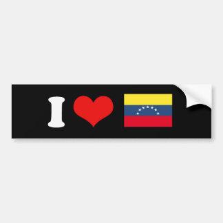 Venezuela Flag Car Bumper Sticker