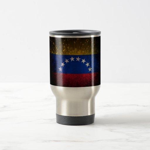 Venezuela Flag Firework 15 Oz Stainless Steel Travel Mug