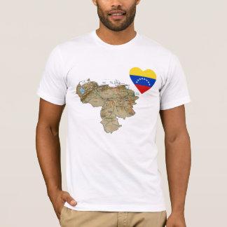 Venezuela Flag Heart and Map T-Shirt