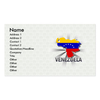 Venezuela Flag Map 2.0 Double-Sided Standard Business Cards (Pack Of 100)