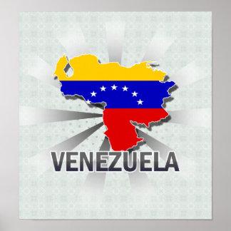 Venezuela Flag Map 2.0 Poster