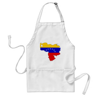 Venezuela flag map adult apron