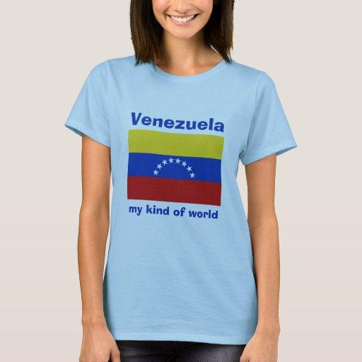 Venezuela Flag + Map + Text T-Shirt