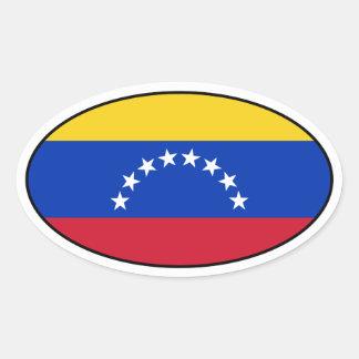Venezuela Flag Oval Sticker