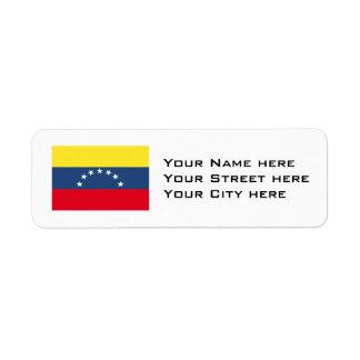 Venezuela Flag Return Address Label
