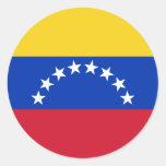 Venezuela flag round sticker