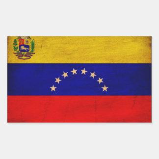 Venezuela Flag Rectangular Sticker