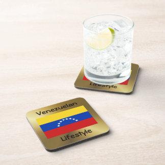 Venezuela Flag+Text Coaster