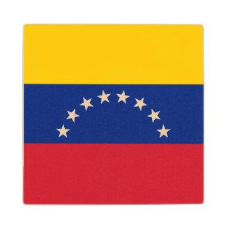 Venezuela Flag Wood Coaster