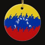 Venezuela Gnarly Flag Ceramic Ornament