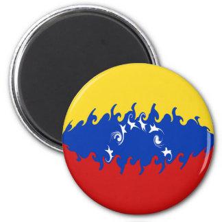 Venezuela Gnarly Flag Magnet