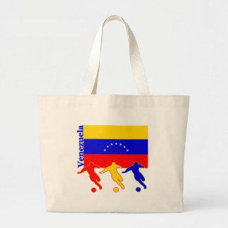 Venezuela - jugadores de fútbol bolsa tela grande