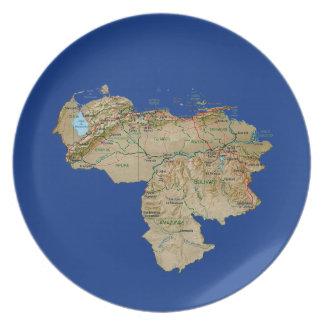 Venezuela Map Plate