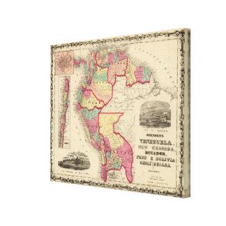 Venezuela, New Granada, and Ecuador Canvas Print