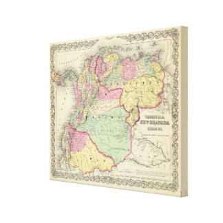 Venezuela, New Granada And Ecuador Canvas Print