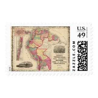 Venezuela, New Granada, and Ecuador Postage Stamp