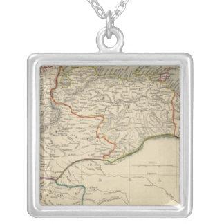 Venezuela, New Granada, Equador, and the Guayanas Square Pendant Necklace