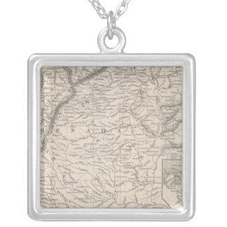 Venezuela, New Grenada and Equador 3 Square Pendant Necklace