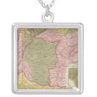 Venezuela, New Grenada and Equador Square Pendant Necklace