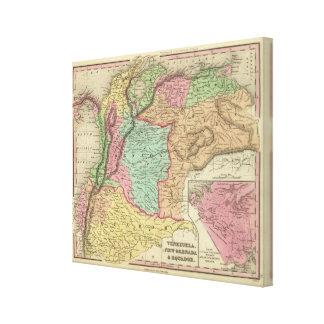 Venezuela, New Grenada & Equador Canvas Print