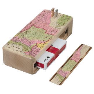 Venezuela, New Grenada & Equador Maple Cribbage Board