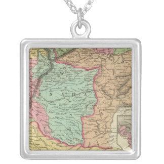 Venezuela, New Grenada & Equador Square Pendant Necklace