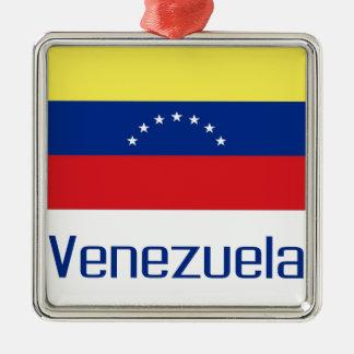 Venezuela Square Metal Christmas Ornament