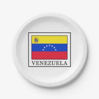Venezuela Paper Plate