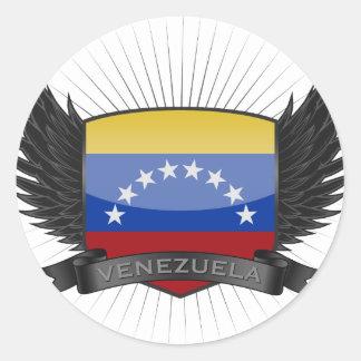 VENEZUELA PEGATINA REDONDA