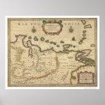 Venezuela por el mapa de Hondius - 1630 Póster