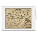 Venezuela por el mapa de Hondius - 1630 Tarjeta De Felicitación
