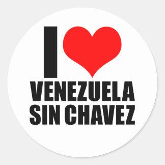 venezuela sin chaves classic round sticker