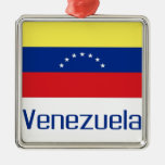 Venezuela Square Metal Christmas Ornament