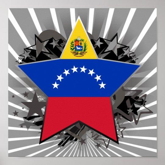 Venezuela Star Poster