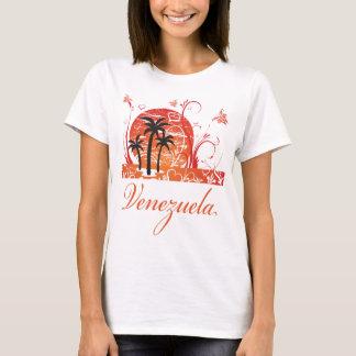 Venezuela Summer Palm Trees Ladies Baby Doll T-Shirt