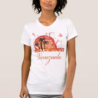 Venezuela Summer Palm Trees Ladies Twofer Sheer T-Shirt